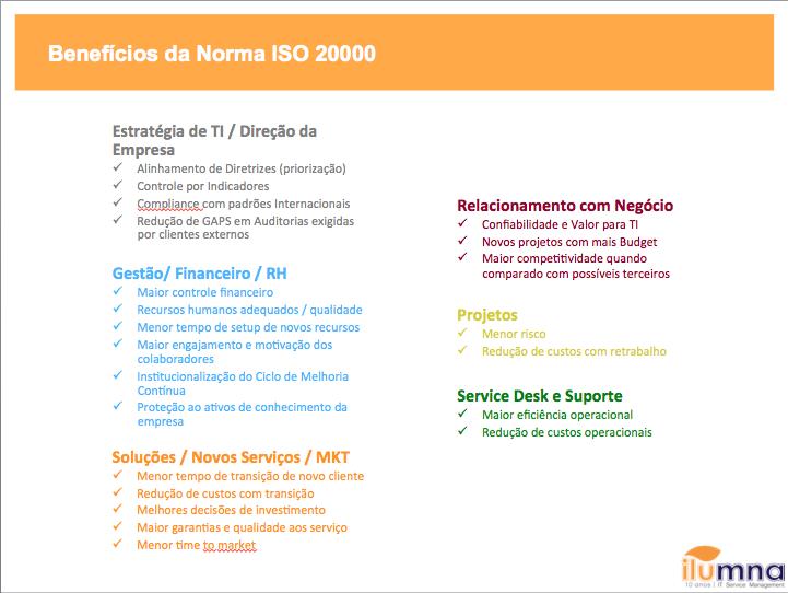Consumidor de TI Area x Bene ISO20k